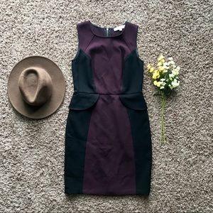 Ann Taylor LOFT Color-Block Peplum Sheath Dress